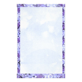 Blue Diamond Border 2   Dark Blue Base Personalized Stationery