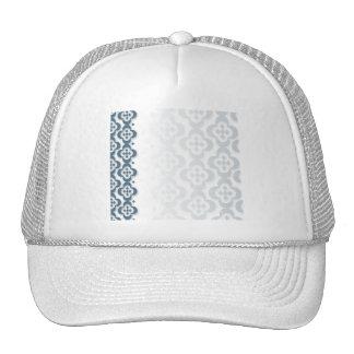 Blue Diamond Center Flower Mesh Hats