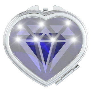 Blue diamond compact mirror
