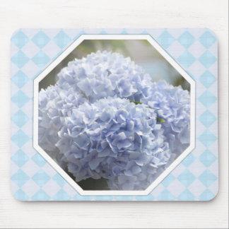 Blue Diamond Hydrangea Flowers Mousepads