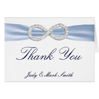 Blue Diamond Infinity Wedding Thank You Card Note Card