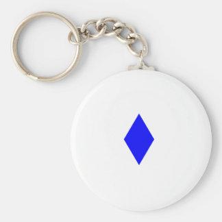 Blue Diamond Basic Round Button Key Ring
