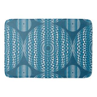 Blue Diamond Mandala  bathmat Geometrical