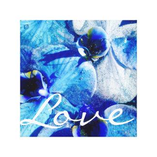 Blue Diamond orchid Canvas Canvas Print