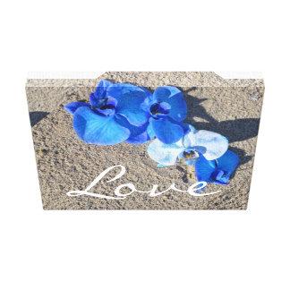 Blue Diamond orchid Canvas! Canvas Print