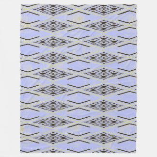 Blue Diamond Pattern Fleece Blanket, Large