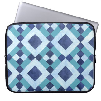 Blue Diamond pattern Neoprene Laptop Sleeve15 inch Laptop Sleeve