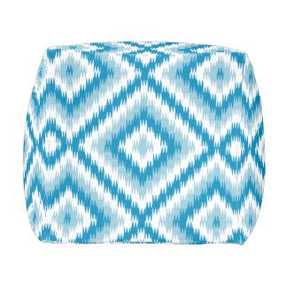 Blue Diamond Pattern Pouf