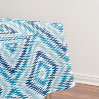 Blue Diamond Pattern Tablecloth