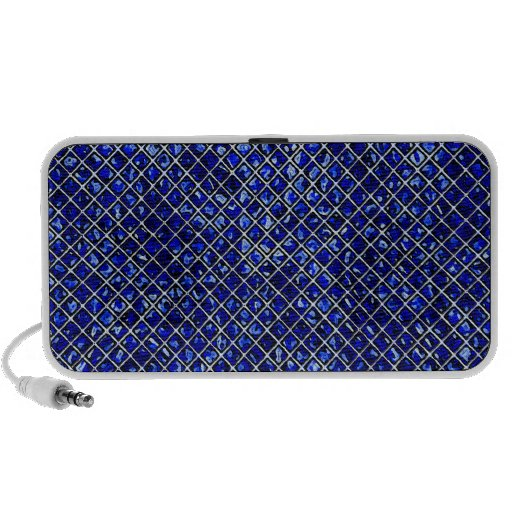 Blue Diamond Stained Glass Style iPhone Speaker