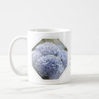 Blue Diamonds Hydrangea Flowers Mug