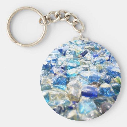 Blue-diamonds Keychain