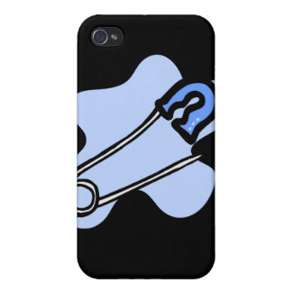 Blue Diaper Pin Cases For iPhone 4