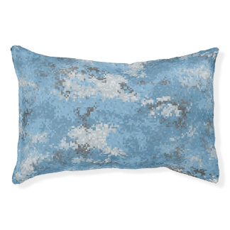 Blue Digi Camo Pet Bed