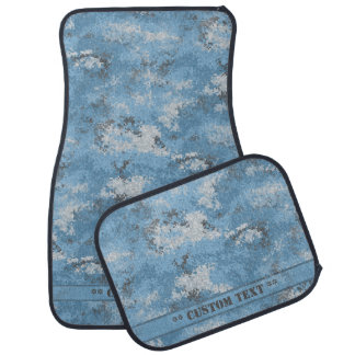 Blue Digi Camo w/ Custom Text Car Mat