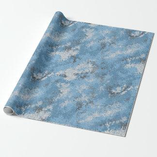 Blue Digi Camo Wrapping Paper