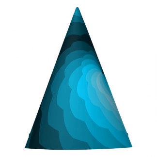 Blue Digital Ocean Waves Party Hat