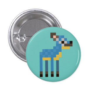 Blue Dik Dik 3 Cm Round Badge