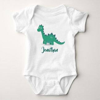 Blue dinosaur baby suit. baby bodysuit