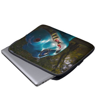 Blue Dinosaur Grinning Laptop Sleeve