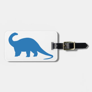 Blue Dinosaur Luggage Tag