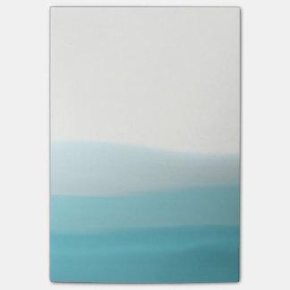 Blue Dip Dye Post it Notes
