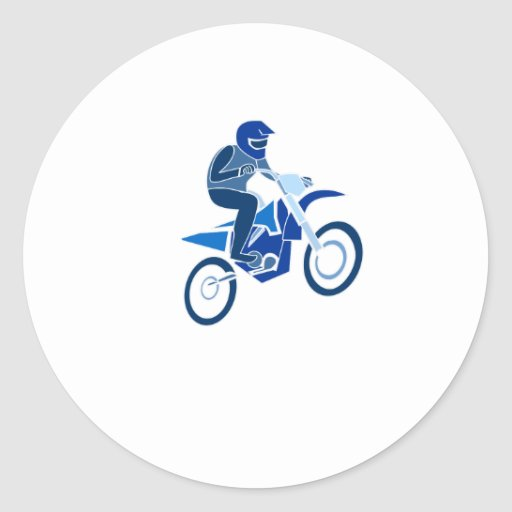 Blue Dirk Biker Stickers