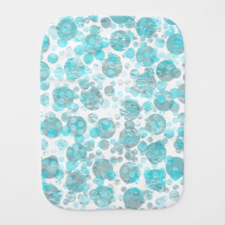 Blue Distressed Bubble Pattern Baby Burp Cloth