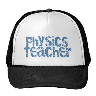 Blue Distressed Text Physics Teacher Cap