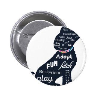 Blue Dog 6 Cm Round Badge