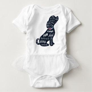 Blue Dog Baby Bodysuit