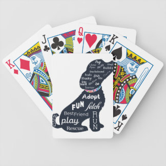 Blue Dog Bicycle Playing Cards