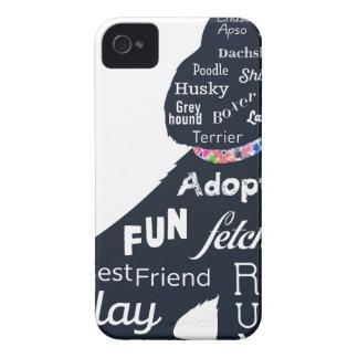 Blue Dog iPhone 4 Case-Mate Case