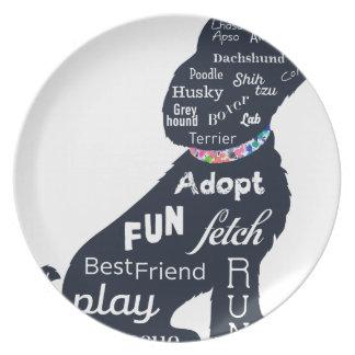 Blue Dog Plate