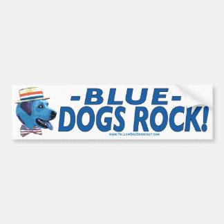 Blue Dog Rocks Bumper Sticker