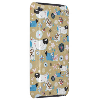Blue Doggie Pattern iPod Touch Covers