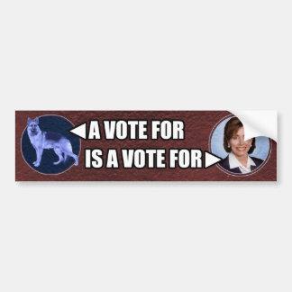 Blue dogs and Nancy Pelosi bumpersticker Car Bumper Sticker
