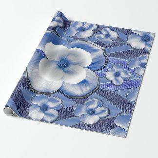 Blue Dogwood Flowers