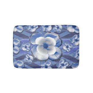 Blue Dogwood Flowers Bath Mats