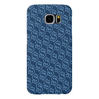 Blue Dollar Signs Tiled Pattern Samsung Galaxy S6 Cases