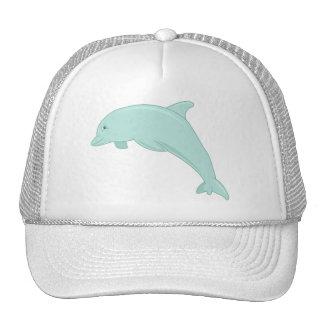Blue Dolphin Digital Illustration Cap