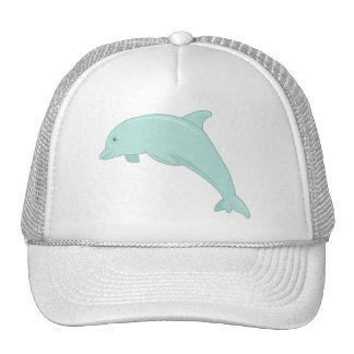 Blue Dolphin Digital Illustration Mesh Hat