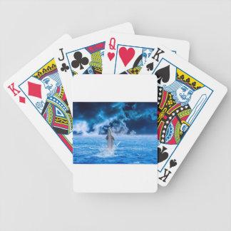 Blue Dolphin Jumping Poker Deck