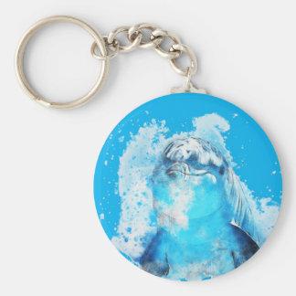 Blue dolphin key ring