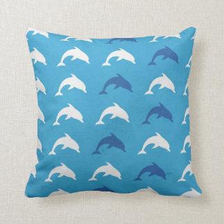 Blue dolphins cushion