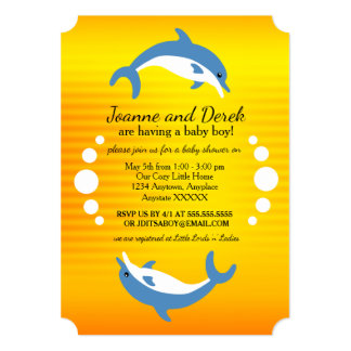 Blue Dolphins Dancing in the Tropical Sun Card