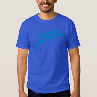 Blue dolphins forming a cute dolphin shape, shirt