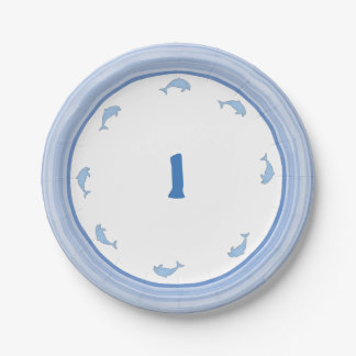 Blue Dolphins Party Supplies Paper Plate