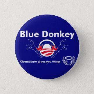 Blue Donkey 6 Cm Round Badge
