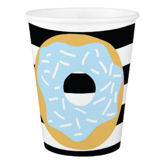 Blue Donut Party Cups